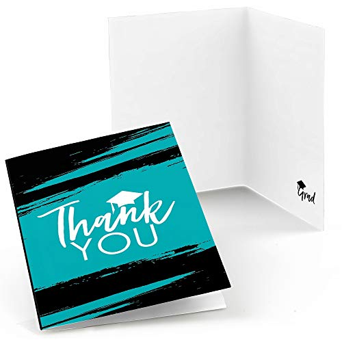 Teal Grad - Best is Yet to Come - Turquoise Graduation Party Thank You Cards - Set of 24