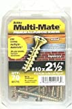 Itw Brands 21704 Multi-Mate #8 x 1-1/2-Inch Phillips Flat-Head Sharp-Point Screws, 140-Pack - Quantity 4