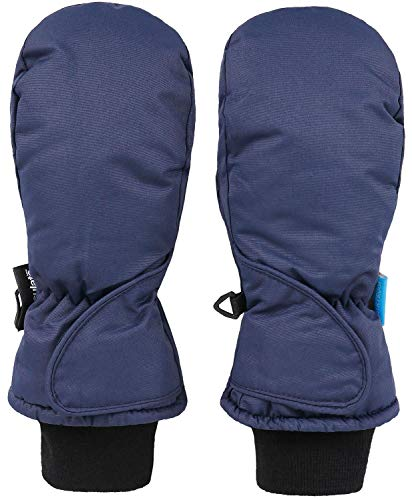 Livingston Kid's Thinsulate Insulated Waterproof Snow Ski Mittens, Navy, Age2-3