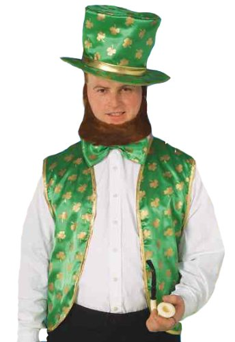 Forum St. Patrick's Day Leprechaun Costume Kit, Green/Gold,