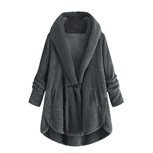 Winter Jas voor Vrouwen Teddy Fleece Jassen Dames Warm Kunstwol Open Voorkant Vest Jas Bovenkleding Teddy Bear Fluffy…