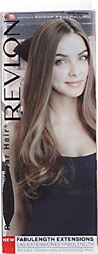 Revlon Hair Extensions (Revlon Fabulength 18 Inch Extensions, Dark Brown, 2 Count)