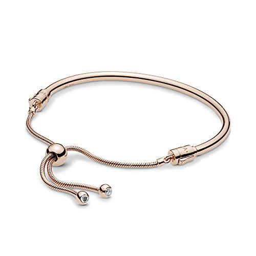 PANDORA Rose Moments Sliding Bangle PANDORA Rose Bracelet, Size: 19cm, 7.5 inches – 587953CZ-2