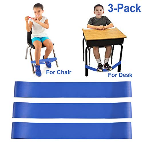 Chair Bands for Kids with Fidgety Feet, Alternative Seating in Classrooms, for Kids with Sensory ADHD ADD Autism and Sensory Needs, Chair Bands Made from Natural Latex, Good Resilience Toughness...