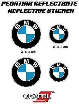 Pegatina Sticker ADESIVO AUFKLEBER Decals AUTOCOLLANTS Compatible Con BMW Reflectante Moto Coche Vinilo 4 Unidades REF1: Amazon.es: Coche y moto