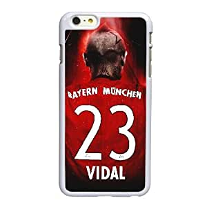 Arturo Vidal A8L19O8ST funda iPhone 6 6S más la caja de 5,5 pufunda LGadas funda LF06W2 blanco