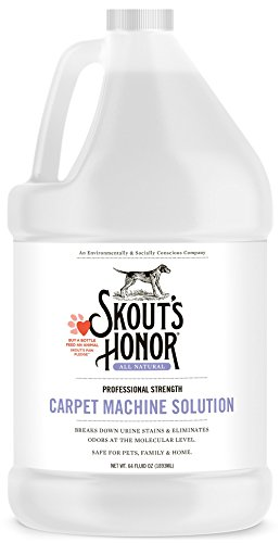 SKOUT'S HONOR Pet Stain Remover Professional Strength Carpet Machine Solution - Non-Toxic and Biodegradable - Breaks Down Urine Stains- Odor Eliminating Technology- 64oz