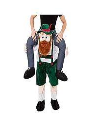 Beer Guy Ride On Mascot Oktoberfest Party Fancy Dress Costume (Beard Guy)