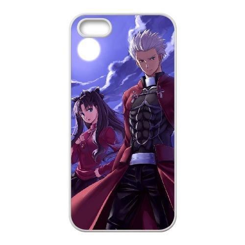 Fate Stay Night 019 coque iPhone 5 5S Housse Blanc téléphone portable couverture de cas coque EOKXLLNCD12757