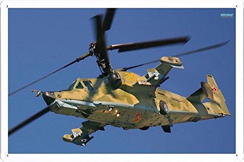 Aircraft Tin Sign Kamov Ka 50 Black Shark 7943 by Waller's Decor (7.8