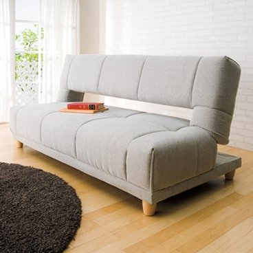 寝心地いい ソファーとベッド1台2役 ソファーベッド プリウス ベージュ色 5段階リクライニング B01N0DMU2X