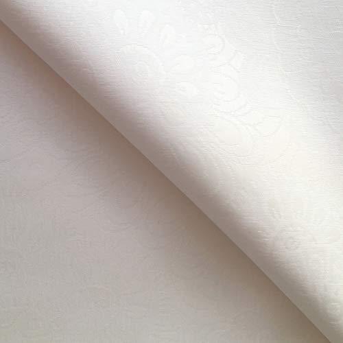 Rond Blanc – blanc facile à nettoyer Nappe Jacquard – 180 cm de diamètre