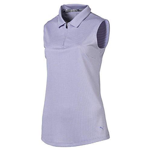 (Puma Golf Women's 2019 Checker Sleeveless Polo, Sweet Lavender, Medium)