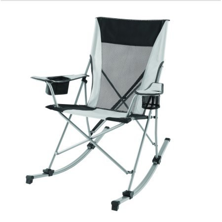 (Ozark Trail Durable Outdoor Tension Rocking Camp Chair )