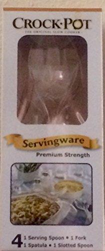 Crock Pot Clear Serving Ware Premium Strength Disposable 4 Pc. Serving SET