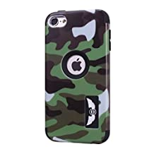 iPod Touch 6 Case,Lantier Cool Solider Camouflage Series 3 in 1 Plastic Hard PC+ Soft Silicone Hybrid High Impact Defender Case Covers Scratchproof Dustproof Shockproof ArmyGreen