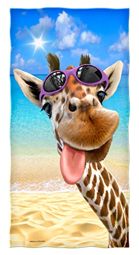 Dawhud Direct Selfie Cotton Beach Towel (Giraffe) ()