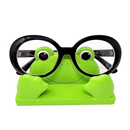 6587559f18a JewelryNanny Fun Frog Eyeglass Holder Stand for Kids Women - Securely Hold Kids  Eyeglasses