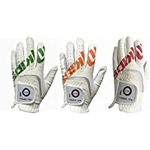 Finger Ten New Synthetic Leather Pad Junior Youth Kids Left Hand and Right Hand Extra Value 2 Pack Golf Glove Christmas Thanksgiving Gift