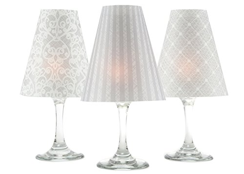 di Potter WS435 Linen & Lace Paper White Wine Glass Shade, White (Pack of 6)]()
