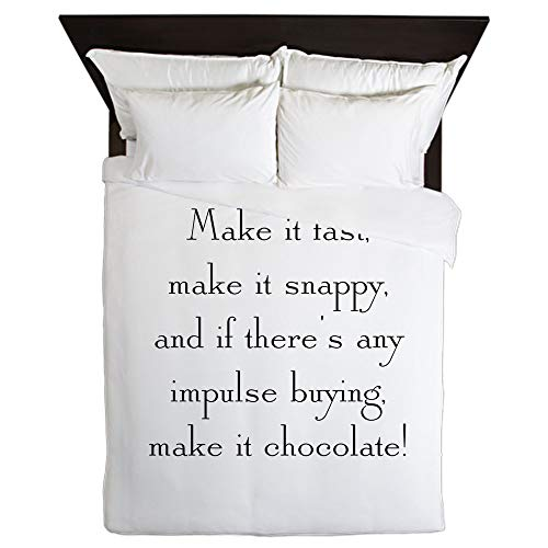 CafePress Make It Chocolate Queen Duvet Cover, Printed Comforter Cover, Unique Bedding, Microfiber by CafePress