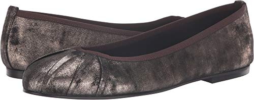 Suede French Flats Sole (French Sole Women's Commute Flat Brown Metallic Suede 8 M US)