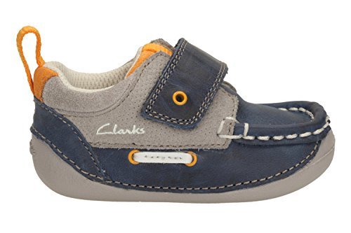 Clarks Boys Cruiser Deck Pre Walker Shoe Navy Combi