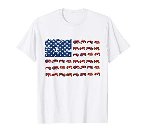 Tractor American Flag patriotic USA farming 4th of july ()