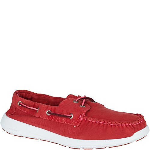 Sperry Sojourn 2 - Eye Wash Canvas - Náuticos de hombre en lona roja (Red), 40.5 EU (8 US)