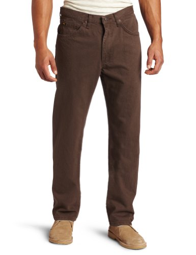 Lee Men's Regular Fit Straight Leg Jean, Walnut, 42W x ()