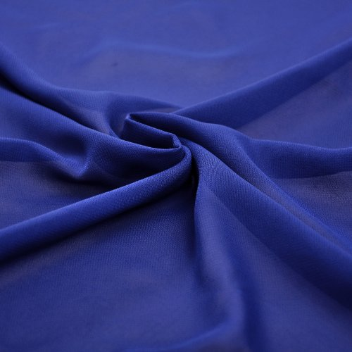 Shoulder Natrual Royal Evening Blue Chiffon One Dress HHwqP5x
