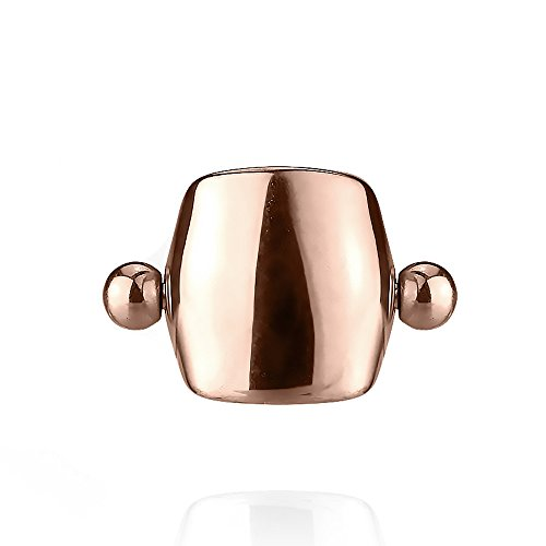 Cartilage Cuff - Inspiration Dezigns 16G Plain Shield Helix, Ear Cartilage Cuff Barbell (Sold Individually) (Rose Gold)