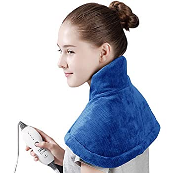Tech Love Electric Heating Pad for Neck Shoulder and Upper Back Pain Relief Moist/Dry Heated Pad with Auto Shut Off 14