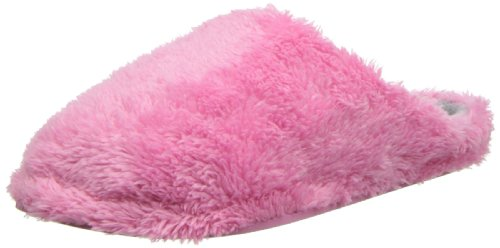 Dearfoams Women's Fluffy Terry Clog,Aurora Pink,Large/9-10 M US