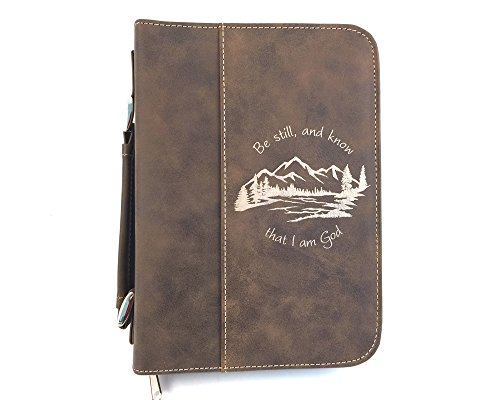 - Be Still and Know Brown Bible Cover - Imitation Leather