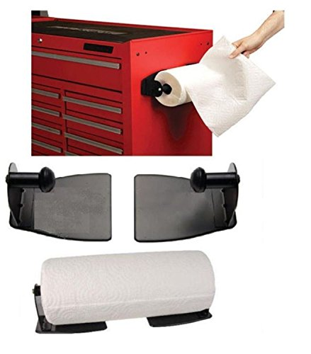 Magnetic Paper Towel Holder Heavy Duty Steel with Magnetic Backing That Sticks To Any Ferrous Surface Great For Kitchen.Work Benches,Storage Closets (Magnetic Paper Towel Holder)