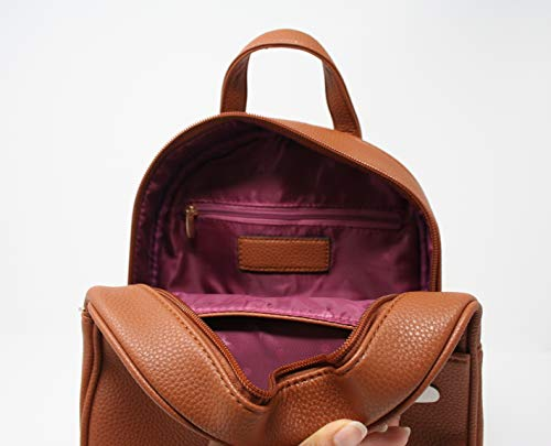 Styles Casual for Fashion Leather Bag Girls Aj188 or Backpack Women Brown Various Mini qwBwXvdr