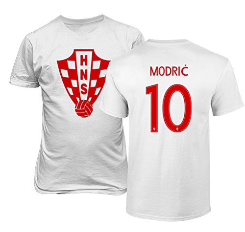 c8bb7934fff Tcamp Croatia 2018 National Soccer  10 Luka MODRIC World Championship Boys  Girls Youth T-Shirt (White