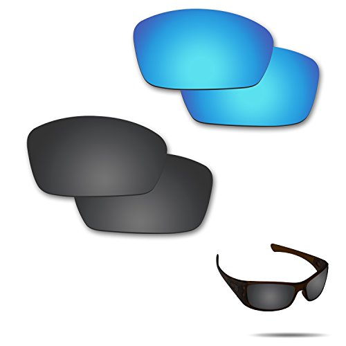 Fiskr Anti-saltwater Polarized Replacement Lenses for Oakley Hijinx Sunglasses 2 Pairs - Lenses Define Polarized