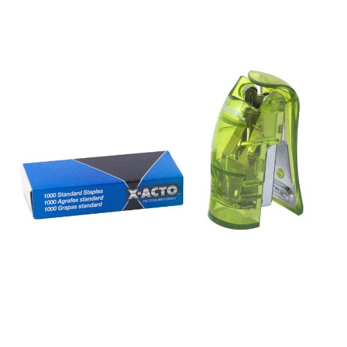 x-acto-mini-stand-up-manual-stapler-green-73011