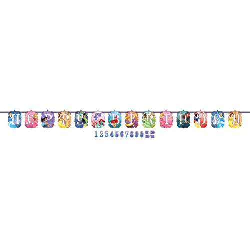 Disney Princess Birthday Balloons (Ribbon Letter Banner | Disney Princess Dream Big Collection |)