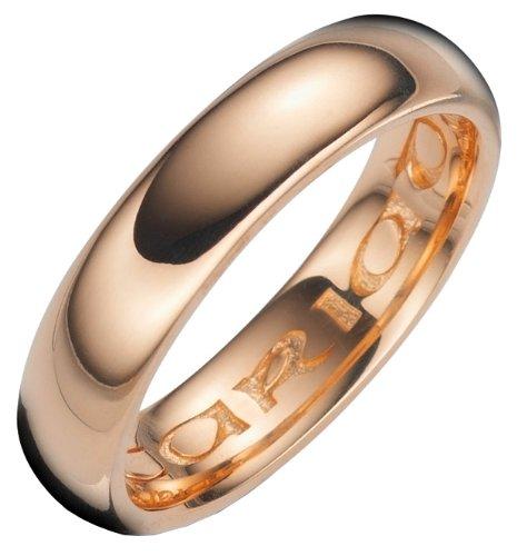 a2b51805e Clogau Gold Cariad Wedding Ring, 18 Carat Rose Gold Court Shape, 5mm Band  Width