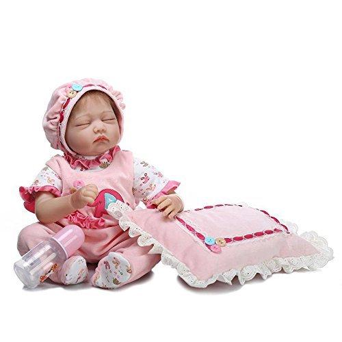 dirance Lifelike Reborn人形Sleepingソフトシリコンフルボディリアルなガール人形ビニールreallike新生児赤ちゃん人形with Clothes 55 cm、子供ギフトfor Ages 3 +、under 100ドル F DR  B B07BVXBXCC