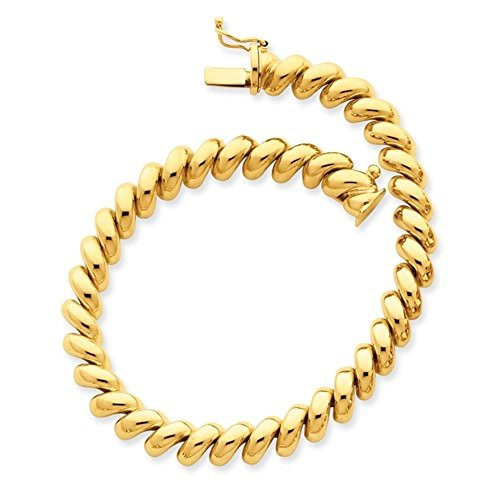 Roxx Fine Jewelry San Marco 14mm Bracelet 14K Yellow Gold 7'' or 8'' (7.00) by Roxx Fine Jewelry (Image #1)