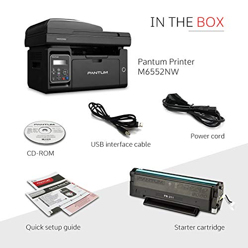 Pantum M6552NW Monochrome Laser Multifunction Printer with Wireless Networking Mobile Printing Large Paper Capacity by Pantum (Image #3)
