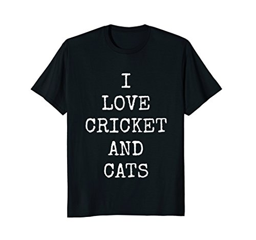 Cat T-Shirt For Women | I Love Cricket And Cats Gift Shirt Cat Crickets