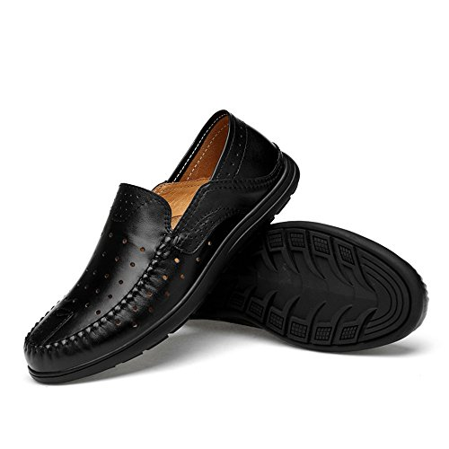 Black Vamp casual Mocassini Wider Penny Hollwo Hollwo Dimensione Color uomo EU Guida Slip Rubber Soft 42 Black Mocassini Fitting per Patch Scarpe On SoleBoat Ofgcfbvxd Leggero wRTq88p