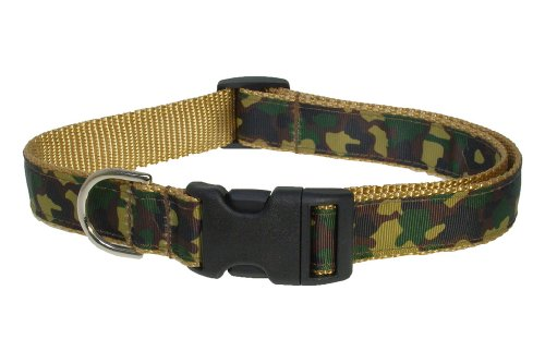 Sassy Dog Wear 10-14-Inch Camouflage Dog Collar, Small