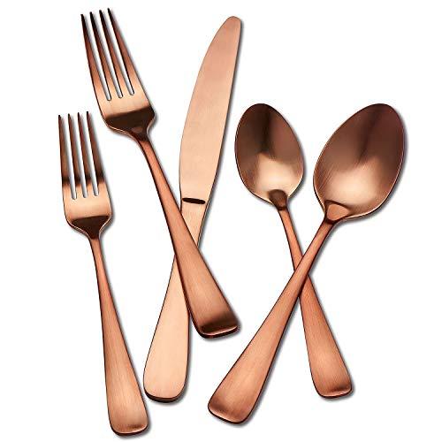 Set Hampton Forge - Hampton Signature Melody Satin Copper Flatware 20 piece set