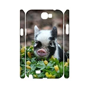 Cute Piglet DIY 3D Cover Case for Samsung Galaxy Note 2 N7100,personalized phone case ygtg-796778